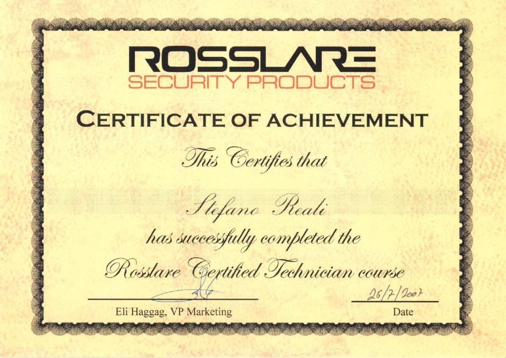 Certificazione training tecnico Rosslare