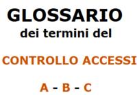 Glossario dei termini del controllo accessi